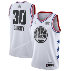 2019 All-Star NBA Golden State Warriors White #30 Jersey
