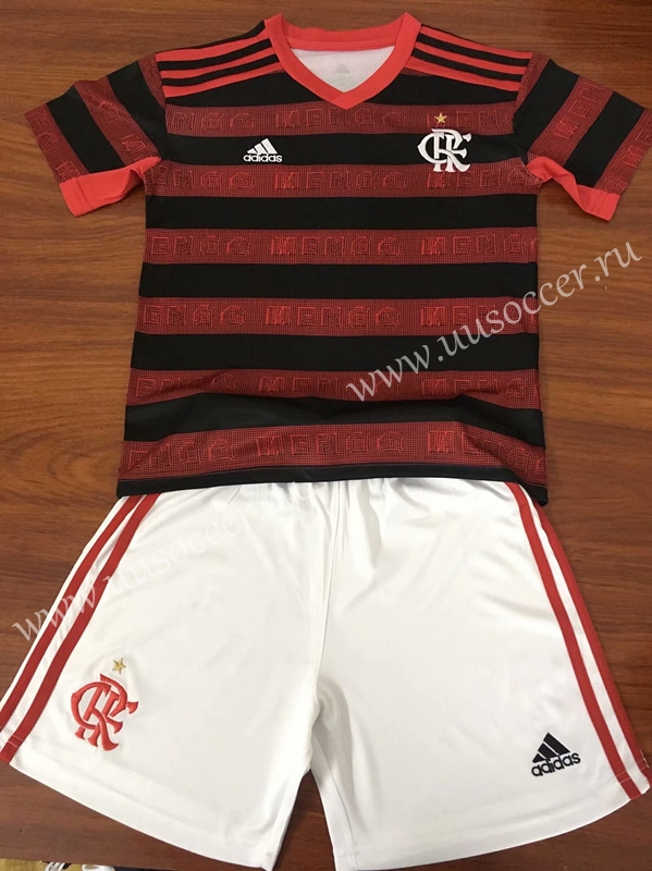 competitive price 67f43 e5708 2019-2020 CR Flamengo Home Red & Black Kid/Youth Soccer ...