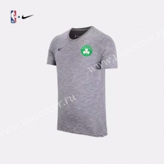2019 NBA Boston Celtics Gray Cotton T-shirt