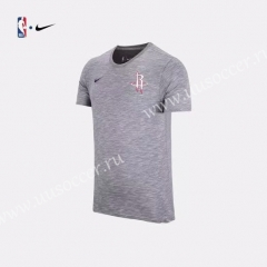 2019 NBA Houston Rockets Gray Cotton T-shirt
