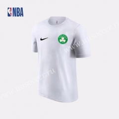 2019 NBA Boston Celtics White Cotton T-shirt
