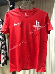 2019 Houston Rockets Red  Cotton T-shirt