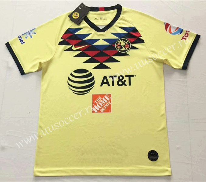 b6134cef2 2019-2020 Club America Home Yellow Thailand Soccer Jersey AAA-912 ...