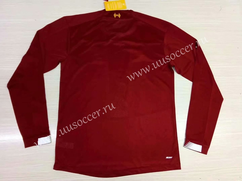 5d4ebbc1e 2019-2020 Liverpool Home Red Thailand LS Soccer Jersey AAA-Liverpool ...