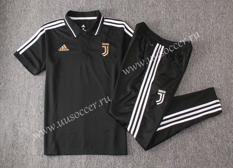 f682c4882 2019-2020 Juventus Black with word Thailand Polo Uniform-815 ...