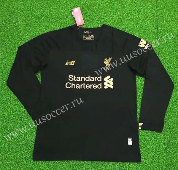 cb7c5440b16 2019-2020 Liverpool Goalkeeper Black Thailand LS Soccer Jersey AAA ...