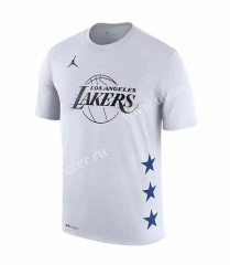 NBA Lakers White #23 Cotton T-shirt-CS