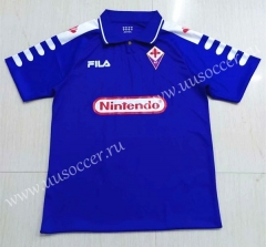 1998-1999 Retro Version Fiorentina Blue Thailand Soccer Jersey AAA-503