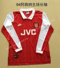 1994 Retro Version Arsenal Home Red LS Thailand Soccer Jersey AAA
