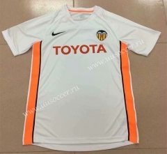 2006 Retro Version Valencia Home White Thailand Soccer Jersey AAA-DG