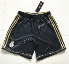 2011-2012 Real Madrid Black with golden edge Thailand Soccer Shorts-SL