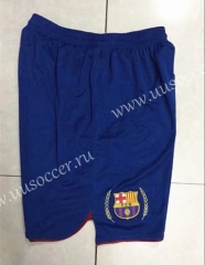 2007 Retro Version Barcelona Home Blue Thailand Soccer Shorts-SL
