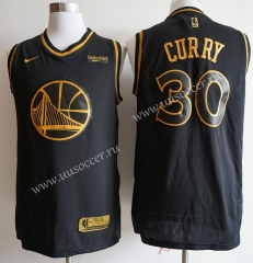 NBA Golden State Warriors Black & Gold #30 Jersey