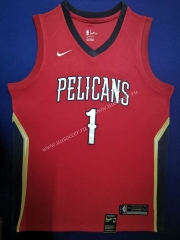 NBA New Orleans Pelicans Red #1 Jersey