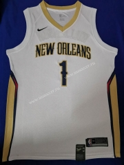 NBA New Orleans Pelicans White #1 Jersey
