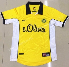 1998 Retro Version  Borussia Dortmund Home Yellow Thailand Soccer Jersey AAA-DG