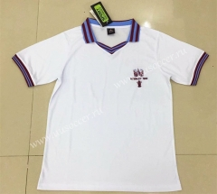 1980 Retro Version West Ham United Away White Thailand Soccer Jersey AAA-DG