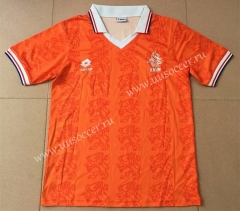 1995 Retro Version Netherlands Home Orange Thailand Soccer Jersey AAA-AY