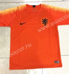 2018 Wolrd Cup Netherlands Home Orange Thailand Soccer Jersey AAA-SKE