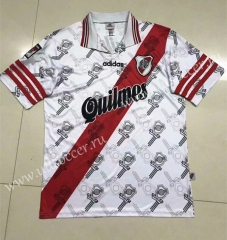 1996 Retro Version CA River Plate Home White Thailand Soccer Jersey AAA-510