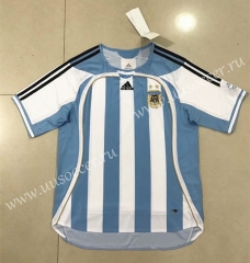 Retro Version 2006  Argentina Home White Thailand Soccer Jersey AAA-510