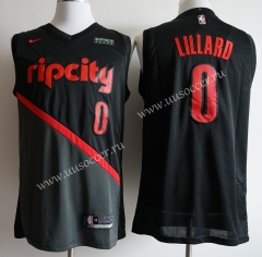 Ciry Version NBA Portland Trail Blazers Black #0 Jersey