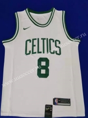 NBA Boston Celtics White #8 Jersey