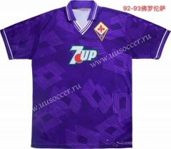 1992-1993 Retro Version Fiorentina Home Purple Thailand Soccer Jersey AAA-811