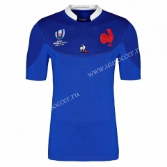 2019 World Cup  France Home Blue Rugby Jersey