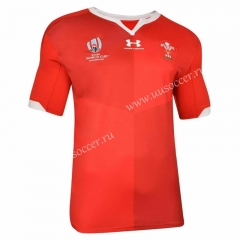 2019 World Cup  Wales Red Rugby Shirt