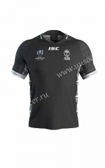 2019 World Cup Fiji Away Black Rugby Jersey