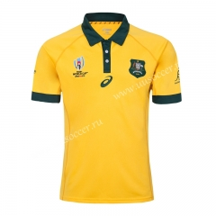 2019 World Cup Australia Home Yellow Rugby Shirt