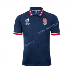 2019 World Cup England Blue Rugby Jersey