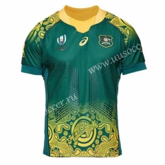 2019 World Cup  Australia Away Green Rugby Shirt