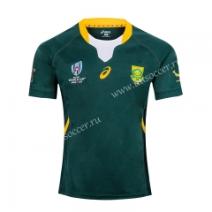 2019 World Cup South Africa Home Green  Rugby jerseys