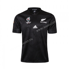 2019 World Cup All Black Home Black Rugby Shirt