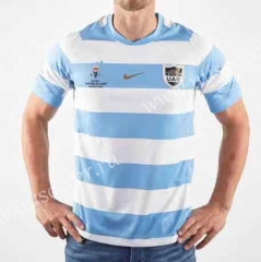 2019 World Cup Argentina White & Blue Rugby Jersey