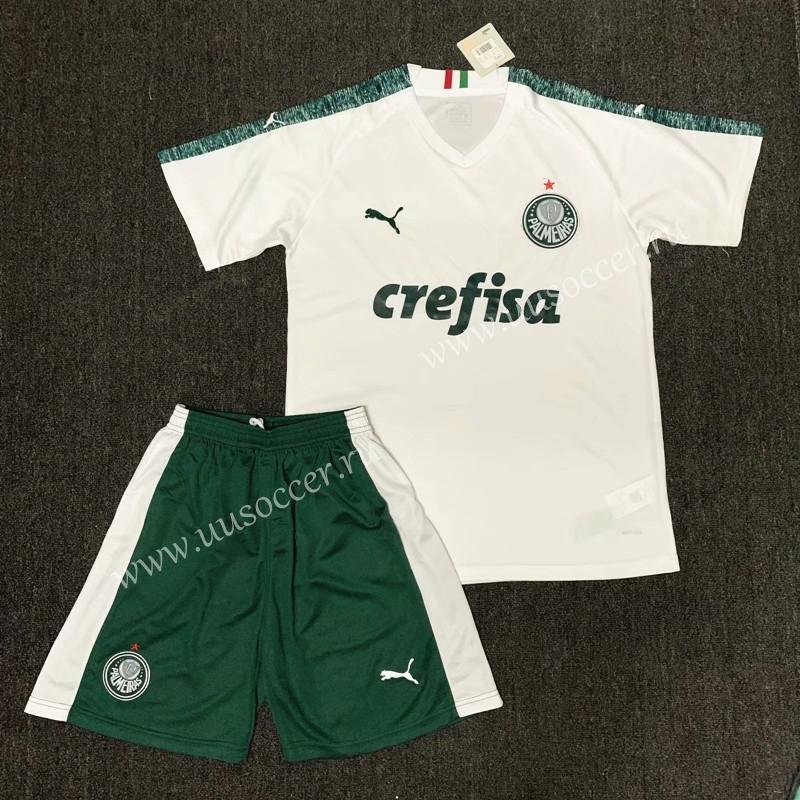 2019-2020 Palmeiras Away White Soccer Uniform710,Palmeiras