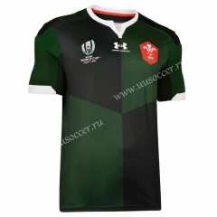 2019 World Cup Wales Away Green Rugby Shirt