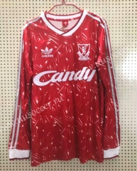 1989 Retro Version Liverpool Home Red Thailand LS Soccer Jersey AAA-811