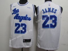 Latin Version NBA Lakers White #23 Jersey