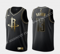 2020 NBA Houston Rockets Gold & Black #13 Jersey