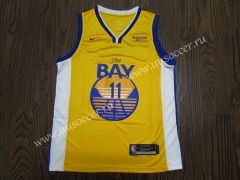 2020 NBA Golden State Warriors Yellow #11 Jersey