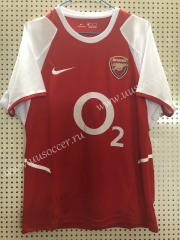 2003-2004 Retro Version Arsenal Home Red Thailand Soccer Jersey AAA-811