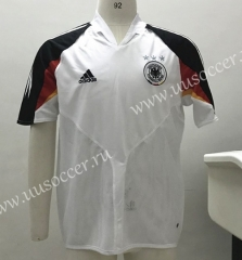 2004 Retro Version Germany Home White Thiland Soccer Jersey-SL