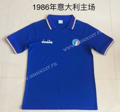 1986 Retro Version Italy Home Blue Thailand Soccer Jersey AAA-DG