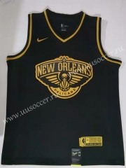NBA New Orleans Pelicans Black & Gold  #1 Jersey
