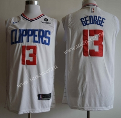New Season NBA Los Angeles Clippers White #13 Jersey