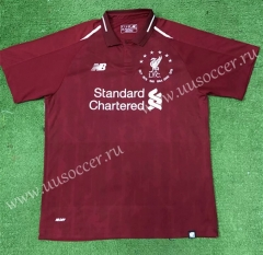 6th Champions League Commemorative 2009-2010 Liverpool Home Red Thailand Soccer Jersey AAA-403