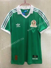 1986 Retro Version Mexico Home Green Thailand Soccer Jersey AAA-811